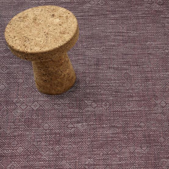 Mosaic Floor Mat in Plum