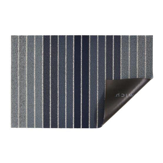 Block Stripe Shag Mat in Denim