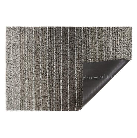 Block Stripe Shag Mat in Taupe