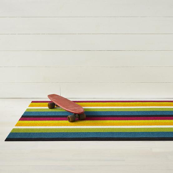 Bold Stripe Shag Mat in Multi