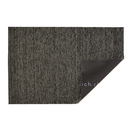 Chilewich Heathered Shag Mat In Black Tan