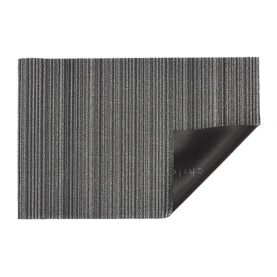 Skinny Stripe Shag Mat in Shadow