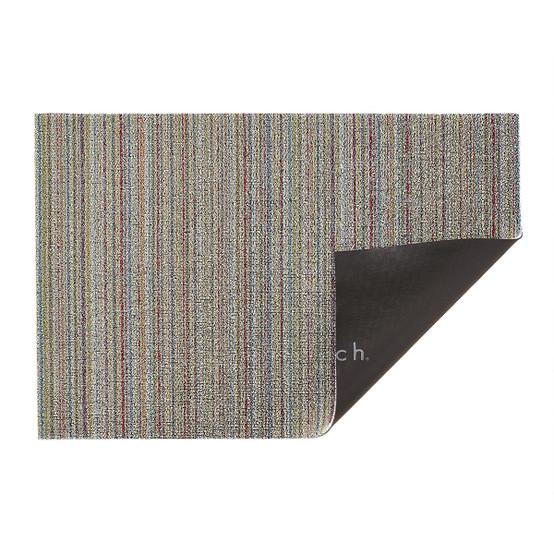 Skinny Stripe Shag Mat in Soft Multi