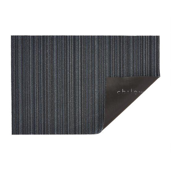 Skinny Stripe Shag Mat in Blue