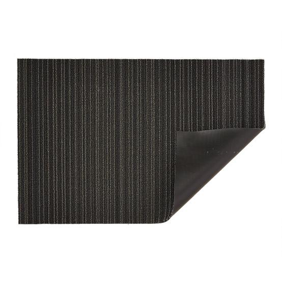 Skinny Stripe Shag Mat in Steel