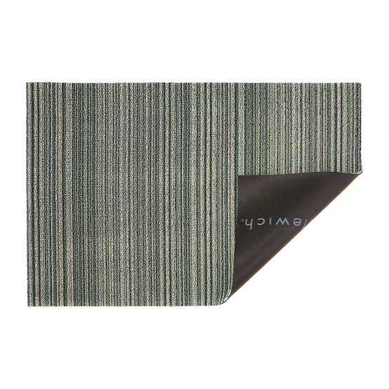 Skinny Stripe Shag Mat in Spearmint