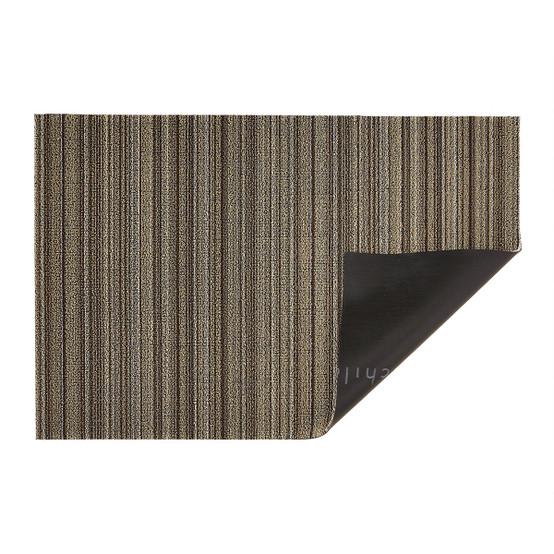 Skinny Stripe Shag Mat in Mushroom