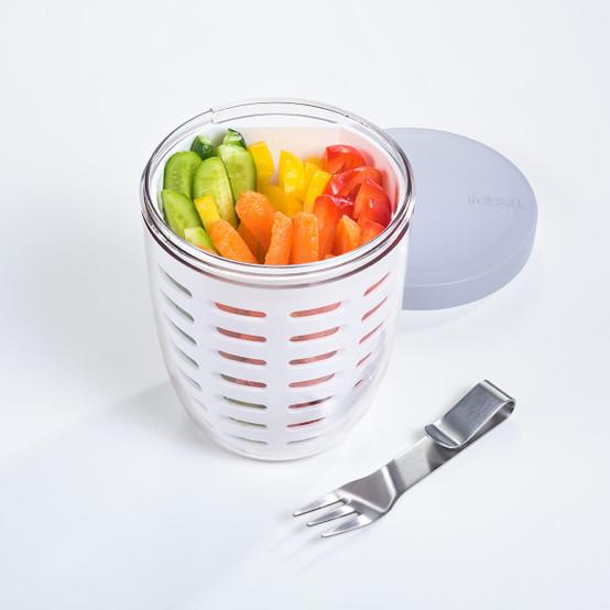 Ellipse Fruit & Veggie Pot in White