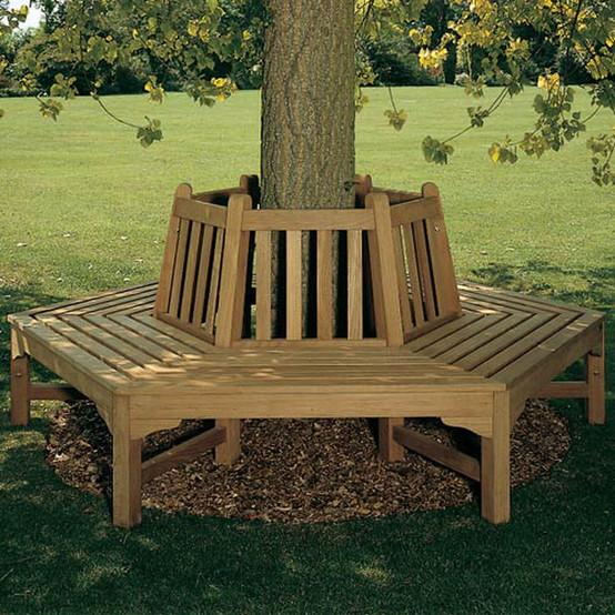 Glenham Hexagonal Teak Tree Seat