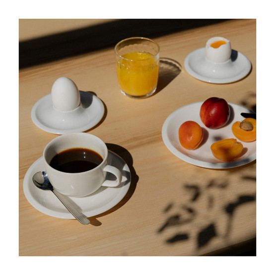 Raami Cup and Saucer in White