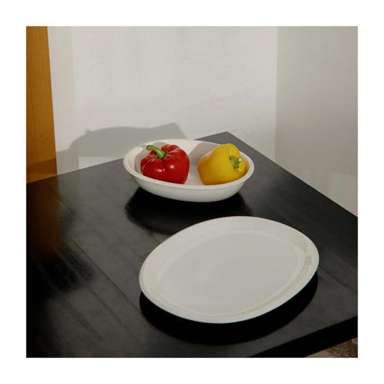 Raami Oval Serving Platter in White