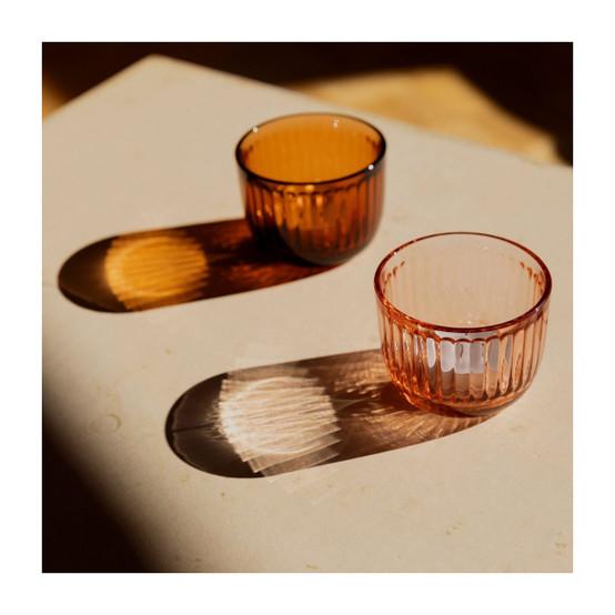 Raami Tealight Candleholder in Salmon Pink