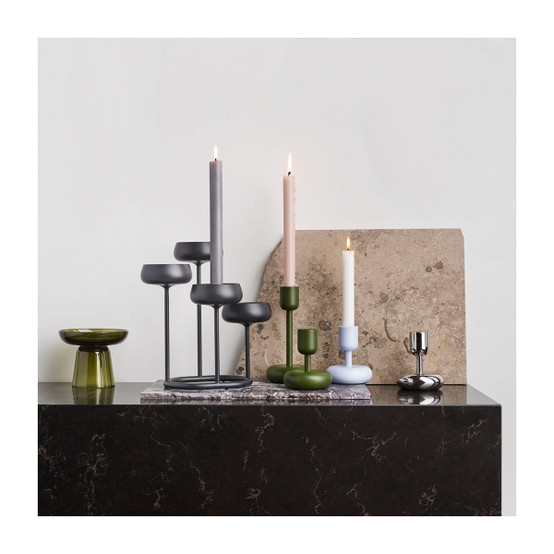 Nappula 4.25 inch Candleholder in Moss Green