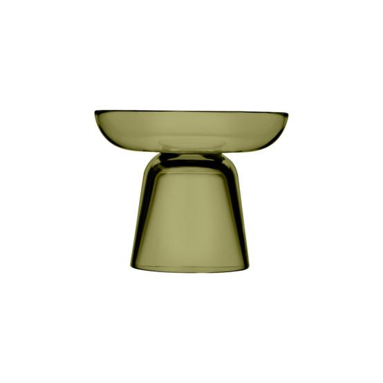 Nappula 4.25 inch Pillar Candleholder in Moss Green