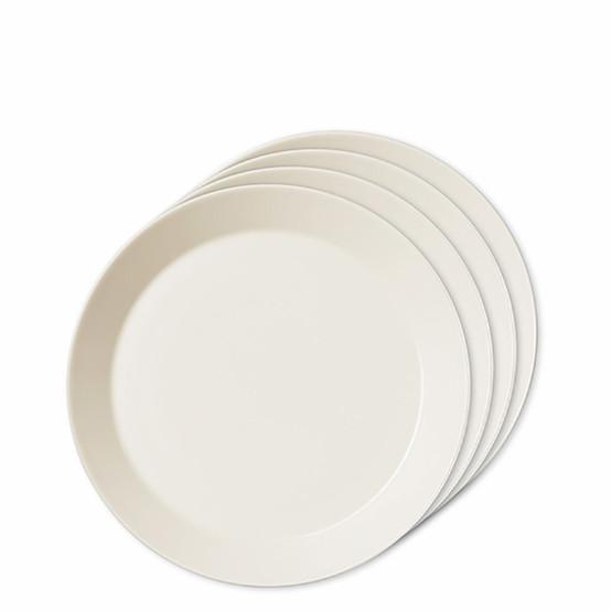 Set of 4 Teema Salad Plates in White