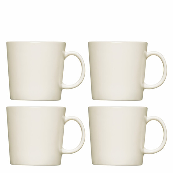 Set of 4 Teema Mugs in White