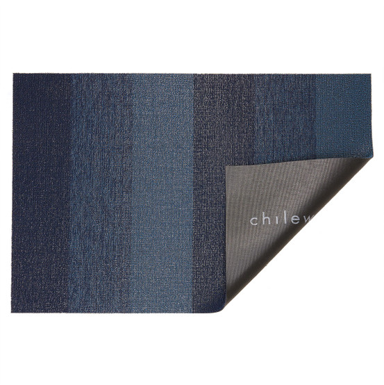 Marbled Stripe Shag Mat in Bay Blue