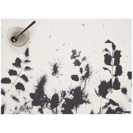 Flora Placemat in Black