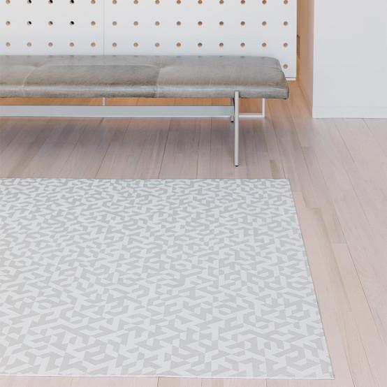 Prism Floor Mat in Silver