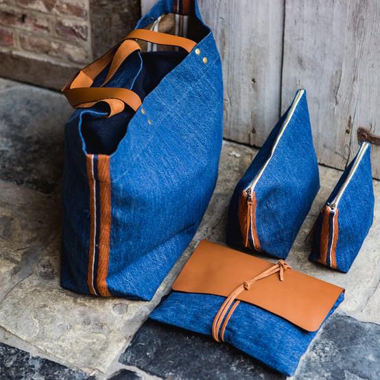 Eugene Cosmetic Bag in Denim
