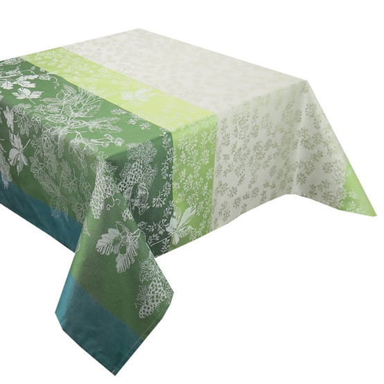 Mille Automnes Coated Tablecloth in Mousse