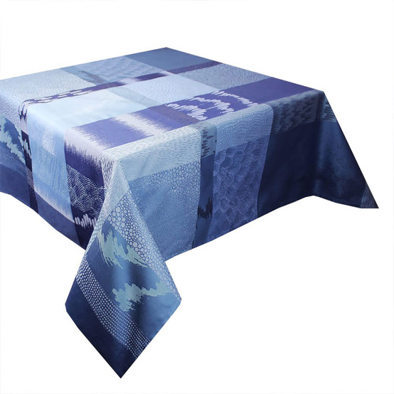 Mille Matieres Coated Tablecloth in Abysses