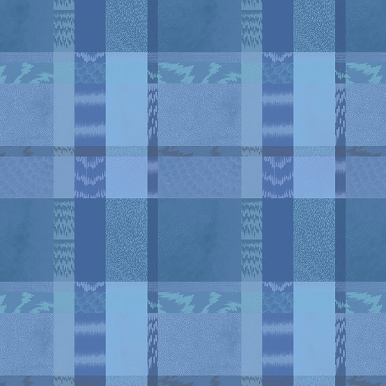 Mille Matieres Coated Fabric in Abysses(Price/Inch)