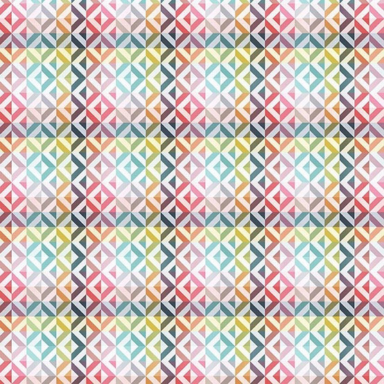 """Mille Twist 59"""" Round Coated Tablecloth in Pastel"""