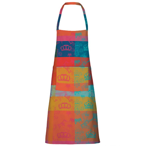 Mille Couronnes Coated Apron in Jubile