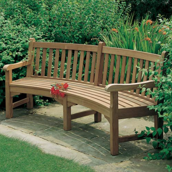Glenham Teak Curved Bench Seat 9' Radius By Barlow Tyrie