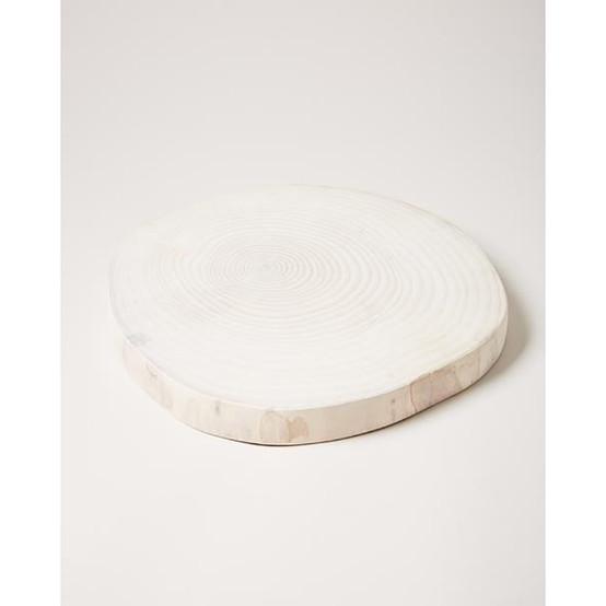 Wood Slice in White
