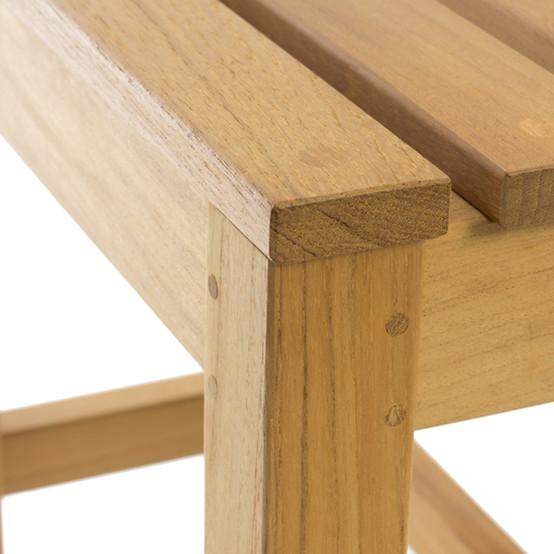 Felsted Teak Footstool - Side Table