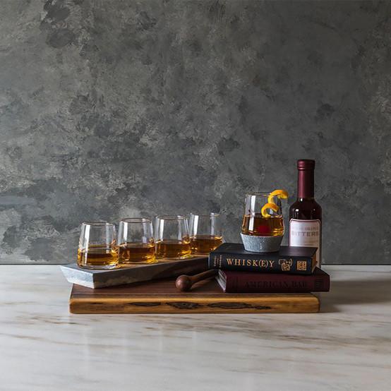 Alpine Whiskey Glasses with Soapstone Base (Set of Four Glasses)