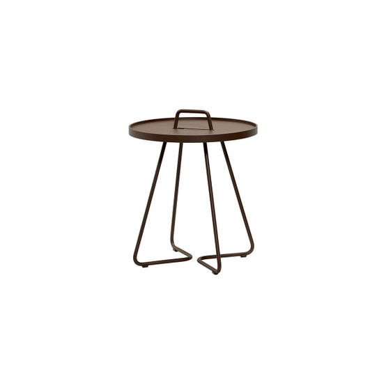 On-The-Move Small Side Table in Mocca