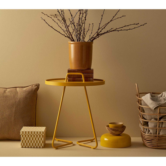 On-The-Move Small Side Table in Yellow