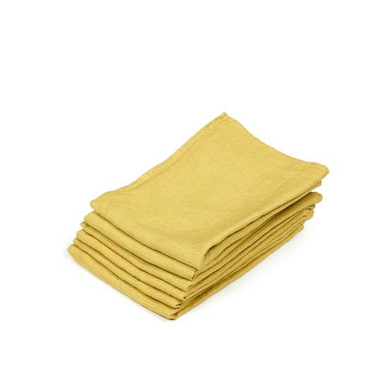 Quinten Guest Towel in Mustard