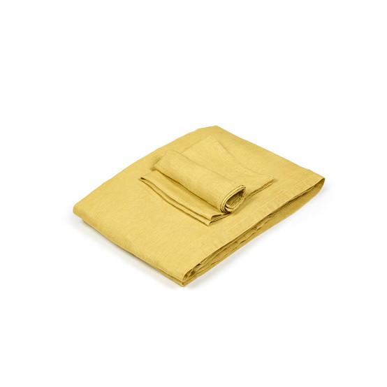 Quinten Table Runner in Mustard