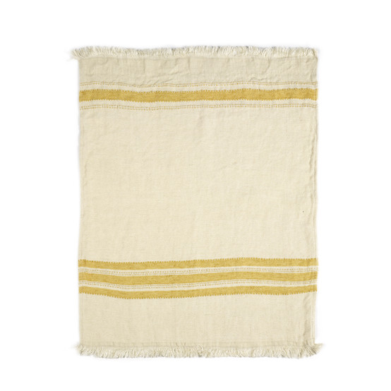 The Belgian Towel Small fouta in Mustard