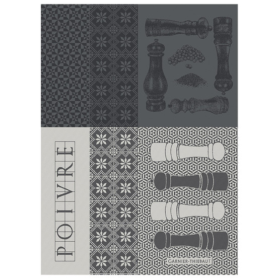 Poivrieres Noir Kitchen Towel