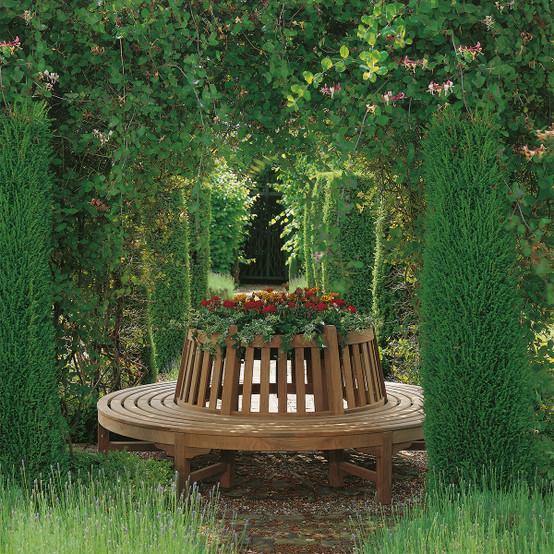 Glenham Teak Circular Landscape Tree Seat