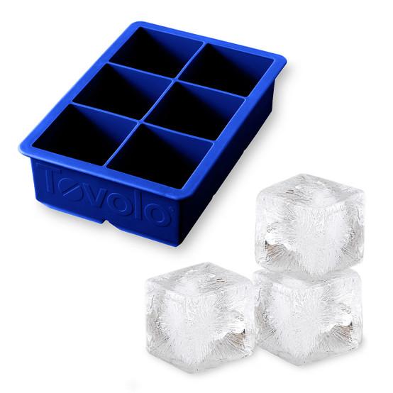 King Cube Ice Tray in Deep Indigo
