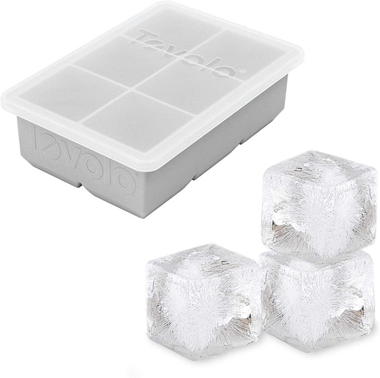 King Cube Ice Tray with Lid in Oyster Grey