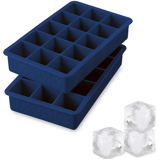 Perfect Cube Ice Trays in Deep Ingido, Set of 2