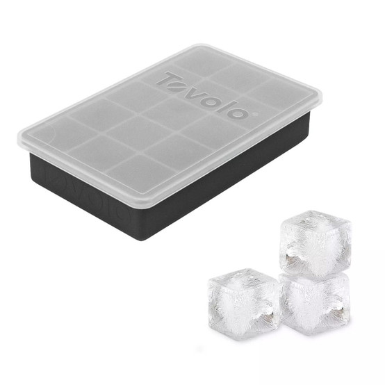 Perfect Cube Ice Trays with Lid in Oyster Gray