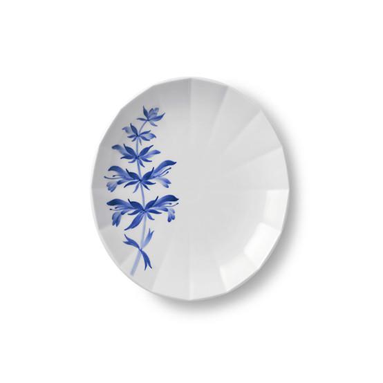 Blomst Dessert Plate in Salvia