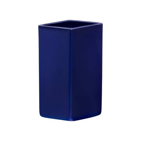 Ruutu 7.25 inch Ceramic Vase in Dark Blue