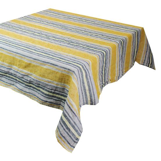 Sombrilla Curry Linen Tablecloth 45 x 45