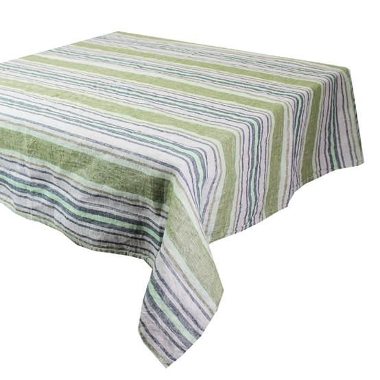 Sombrilla Olive Linen Tablecloth 45 x 45