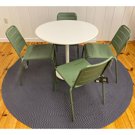 Go Table and Copenhagen City Chairs in Olive Green