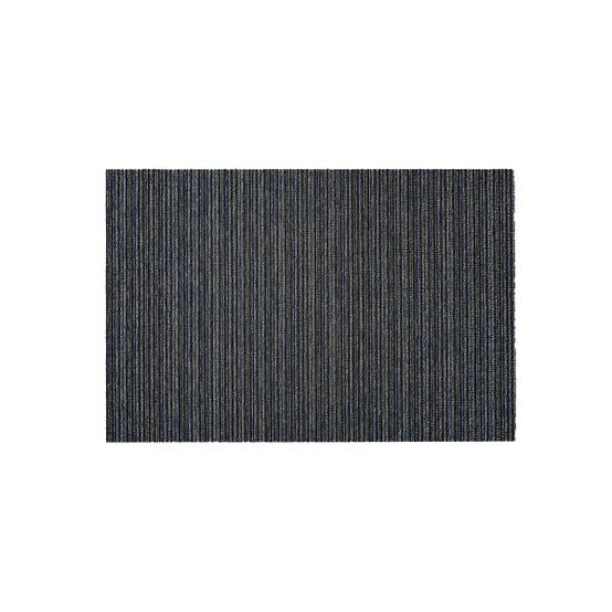 Skinny Stripe Shag Mat in Forest